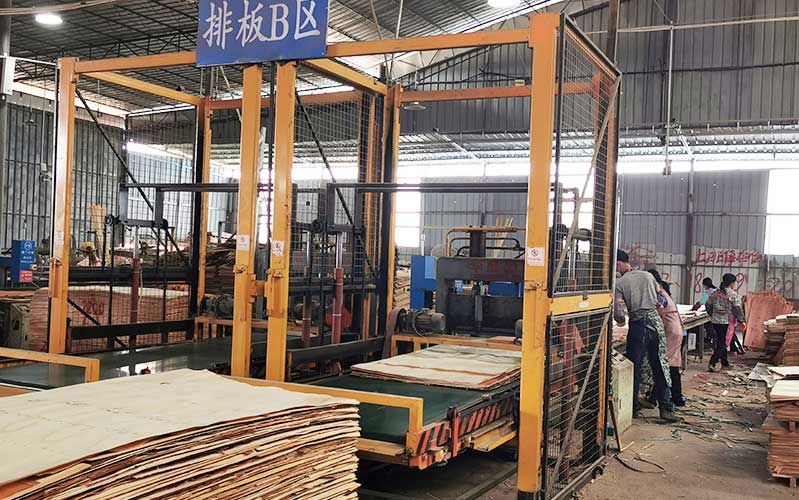 建筑模板生产排板流水线